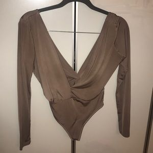 Tops - Naked wardrobe body suit in taupe sz small
